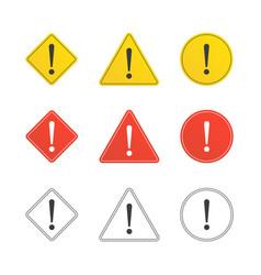 Set caution icons vector
