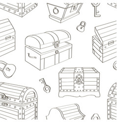 set chest pattern vector image