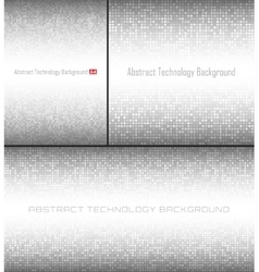 Set of Gray Technology Pixel Circle Backgrounds vector