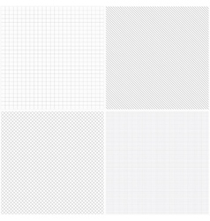 Set of grid seamless patterns vector image