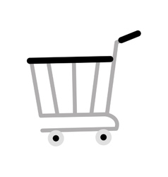 Shopping cart online delivery market gray color vector