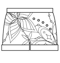 Shorts coloring vector