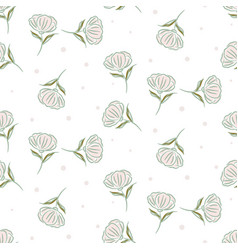 Simple flower pattern design vector