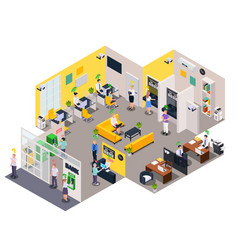 social credit office composition vector image