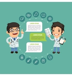 Speaking Doctor Infographic with Icons vector