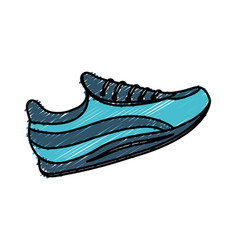 Sports shoe icon vector
