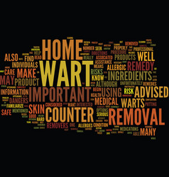 The dangers of at home wart removal text vector