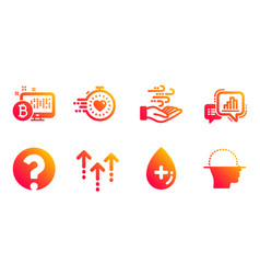 Timer oil serum and swipe up icons set graph vector
