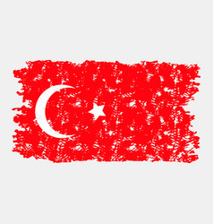 turkey flag grunge texture isolated vector image