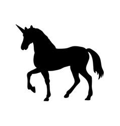 Unicorn silhouette mythology symbol fantasy vector