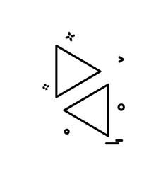up down arrow icon design vector image