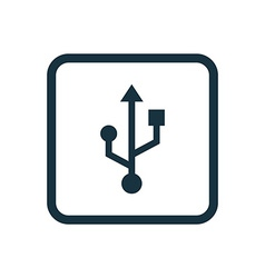 usb icon Rounded squares button vector image