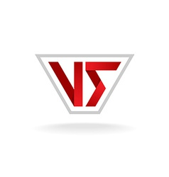 Versus sign logo vector