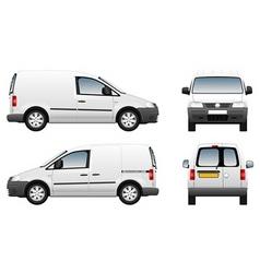 Volkswagen caddy delivery van vector