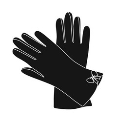 warm burgundy gloves for hands female winter vector image