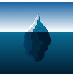 white iceberg on blue atlantic background vector image