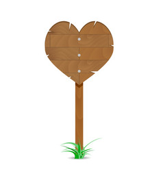 Wooden heart sign vector