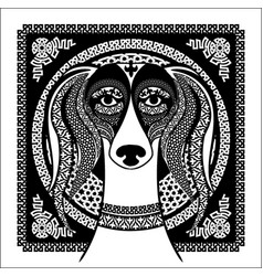 arabic ornament image of an arabian saluki vector image vector image