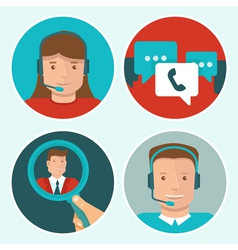 client service vector image vector image