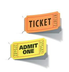 Entrance tickets vector