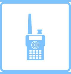 Portable radio icon vector
