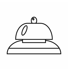 Call at reception icon outline style vector image