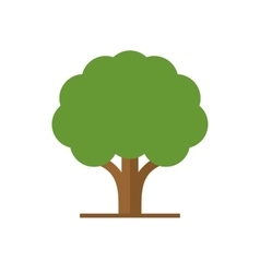 Flat Style Tree with Green Leaves Logo vector image vector image