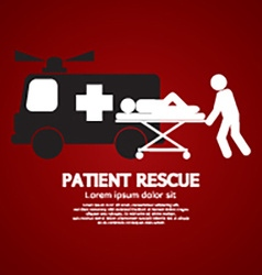 Patient Rescue Symbol vector image
