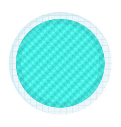 round swimming pool vector image vector image