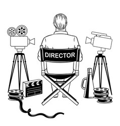 Stage director on set coloring book vector