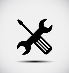 Wrench and screwdriver - repair icon vector image vector image