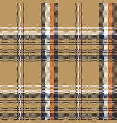 beige check plaid tartan pixel seamless pattern vector image