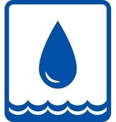 big water drop and wave vector image vector image