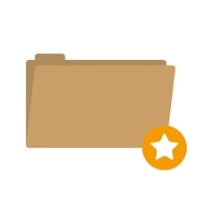 folder favorites button with stars shape vector image