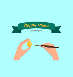 happy easter tamplate vector image