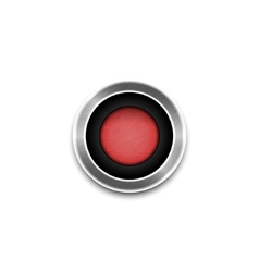 Red Button isolated vector image vector image