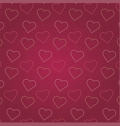 Valentines day pink heart pattern background vector