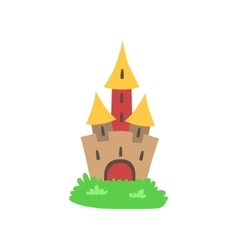 Fairytale Castle Drawing vector image vector image