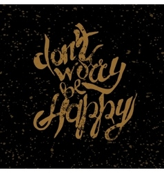Hand lettering with text vector image