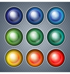 Infographics shiny realistic colorful spheres and vector image vector image