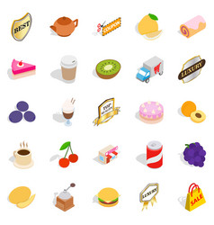 yummy ice cream icons set isometric style vector image vector image