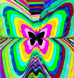 Abstract color image of butterfly vector