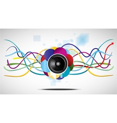 abstract speaker and lines vector image