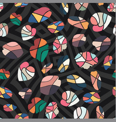 abstract wallpaper random cut leaves black vector image