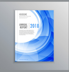 Amazing brochure flyer design template with blue vector
