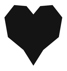 Angular heart icon simple style vector
