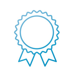 award rosette with ribbon toy decoration vector image