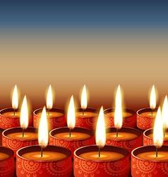 Beautiful happy diwali vector