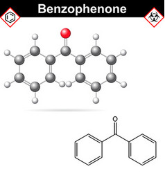 Benzophenone organic chemical vector image
