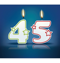 Birthday candle number 45 vector